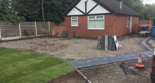 Landscaping and insatallation of driveway 3